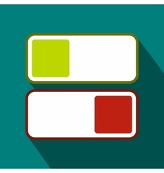 Green and red button icon flat style vector image