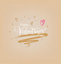 Happy valentines day card with typography art vector