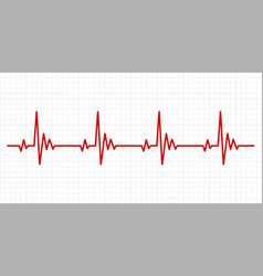Heartbeat electrocardiogram background vector