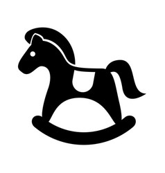 Horse wooden isolated icon vector