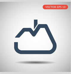 house icon in trendy flat style isolated on grey b vector image