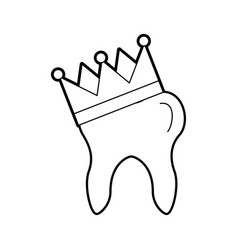 human tooth with crown vector image
