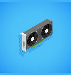isometric computer video card vector image
