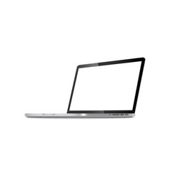 laptop in angled position with blank screen vector image