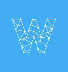 logo letter w dots lines vector image