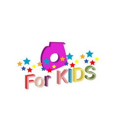 logo with the inscription for kids object art vector image