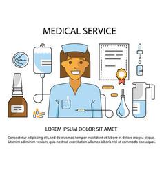 medical service website vector image