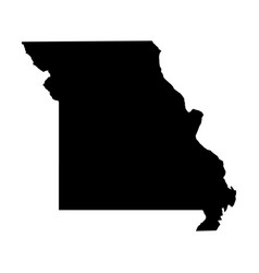 missouri state of usa - solid black silhouette vector image