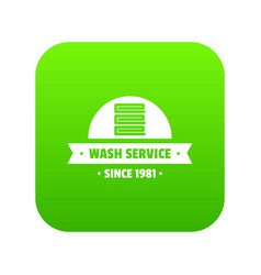 modern wash service icon green vector image