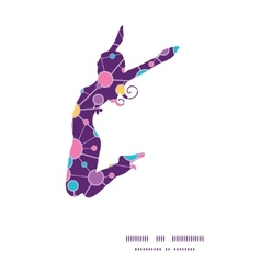Molecular structure jumping girl silhouette vector