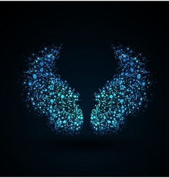 musical notes wings vector image