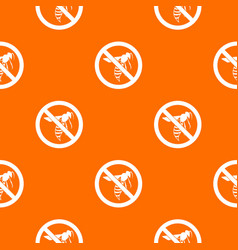 No wasp sign pattern seamless vector