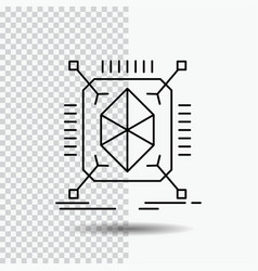 Object prototyping rapid structure 3d line icon vector