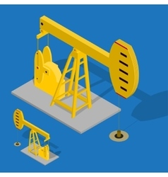 Oil Pump Energy Industrial on a Blue Background vector