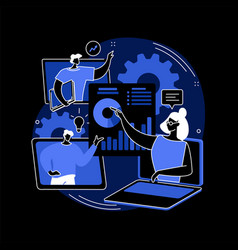 online tech talks abstract concept vector image