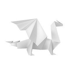 Origami dragon vector