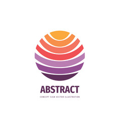 positive abstract sphere - business logo vector image
