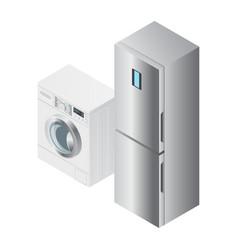 realistic detailed isometric 3d fridge vector image
