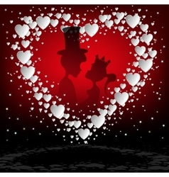 Red designwhite heart vector image