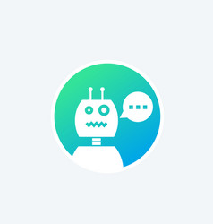 robot chatbot icon vector image