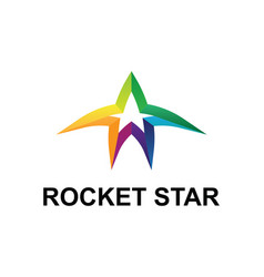 Rocket star vector