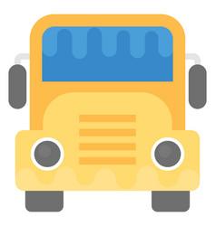 School bus flat icon vector