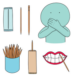 Set of toothpick vector
