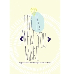 Simple inspirational motivating quotes poster vector