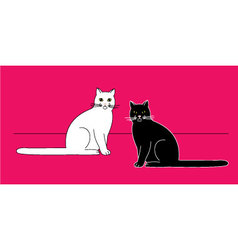 Sitting cats vector