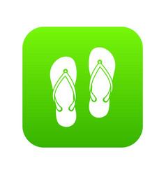 Slates icon digital green vector