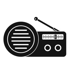 speaker radio icon simple style vector image