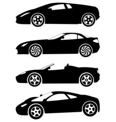 sport cars set 2 vector image
