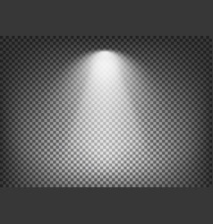Spotlight effect on transparent background vector