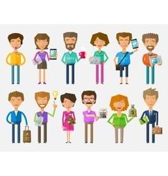 teamwork logo design template office or vector image