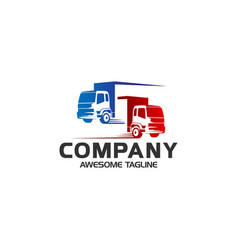 truck logo business symbols emblems of vector image