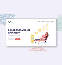 Uv radiation solar ultraviolet landing page vector