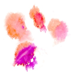 Watercolor splashes vector