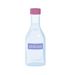 White vinegar bottle isolated on white background vector