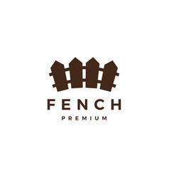 Wood fence logo icon vector