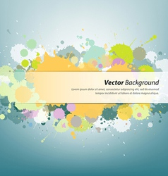 Colorful ink painting background vector image