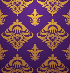 gold-purple-pattern vector image vector image