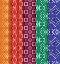 Set of arabic geometric seamless patterns ethnic vector