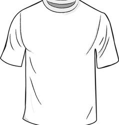 White t shirt template vector
