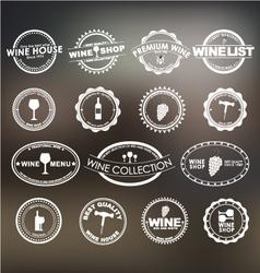 Wine logo 1 vector image vector image