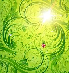 Bright Green Summer Design vector image vector image