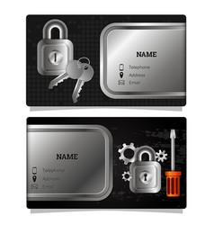 business card repair locks and keys vector image