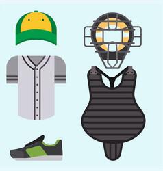 cartoon baseball uniform player batting vector image