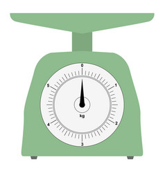 colored domestic weigh-scales vector image vector image