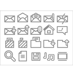 envelope folder web icons vector image vector image