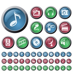 Multimedia buttons vector image vector image